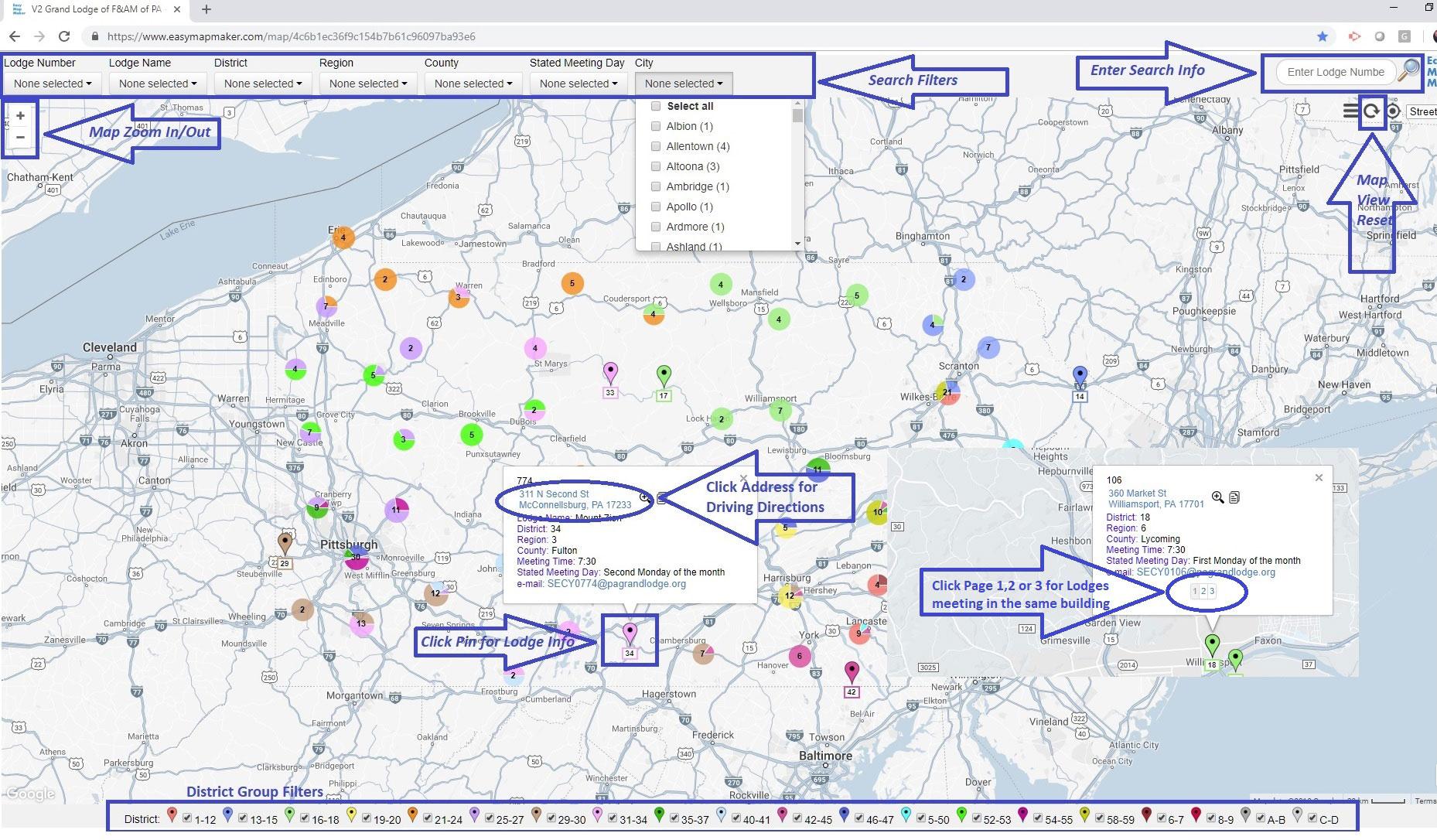 PA Lodge Locator Reference Image