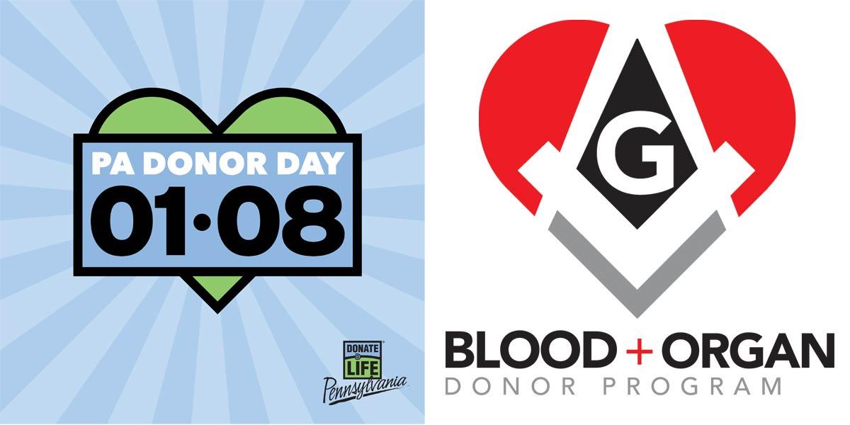 Donor Day and Masonic Blood & Organ Donor Program logo
