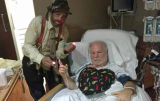 Finky the Clown with patient