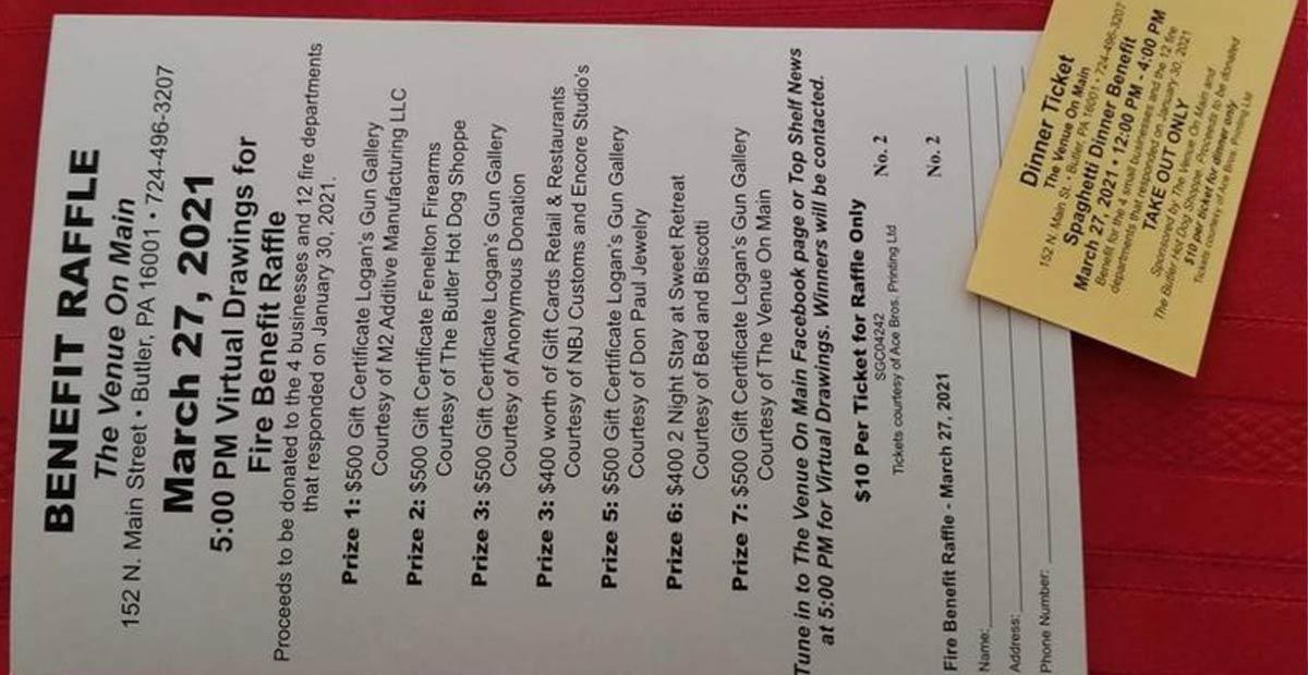 Raffle List and Spaghetti Dinner Ticket